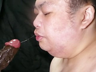 Fat bitch pig Shino  deep throat & irrumatio the bbc