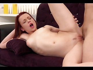 Cute Little Redhead Gets Anal Workout