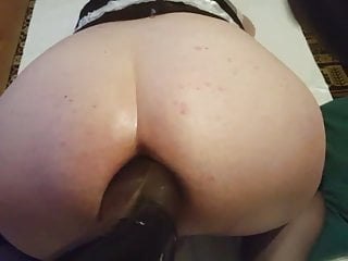 Sissy trauning extreme gaphole fisting footing huge dildo...