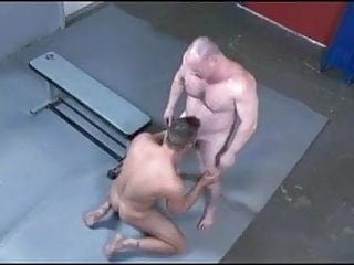 Fighting turns to fucking with and younger hunk...