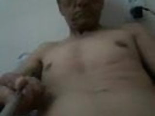 Asian dark daddy self video