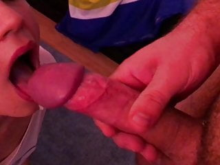 Cumshot in mouth and swallowed