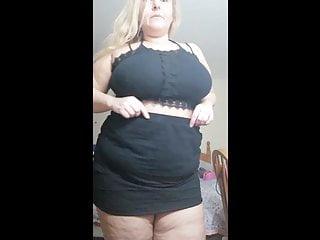 Short black skirt flashing...