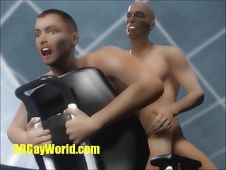 Animated 3 virtual cumshots in office...