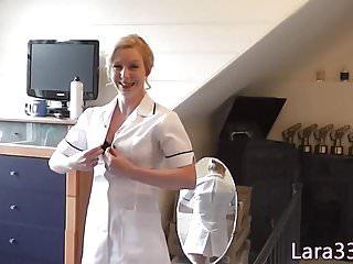Nurse fingerfucked stockinged babe...