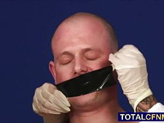 Tied patient sucked off by three nurses
