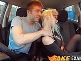 Busty MILF Barbie gets her wet cunt rammed in a test car