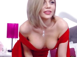Big Tits Blonde Babe Plays Her Pink Pussy