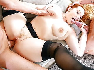 Puremature thick milf threesome with two...
