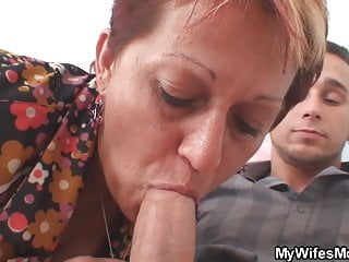 inlaw behind from begging her Old mother fuck