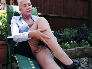 Masturbating in garden...
