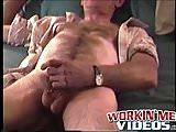 Old John enjoys jerking off his small hairy prick when solo