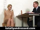 Embarassing nude job interview