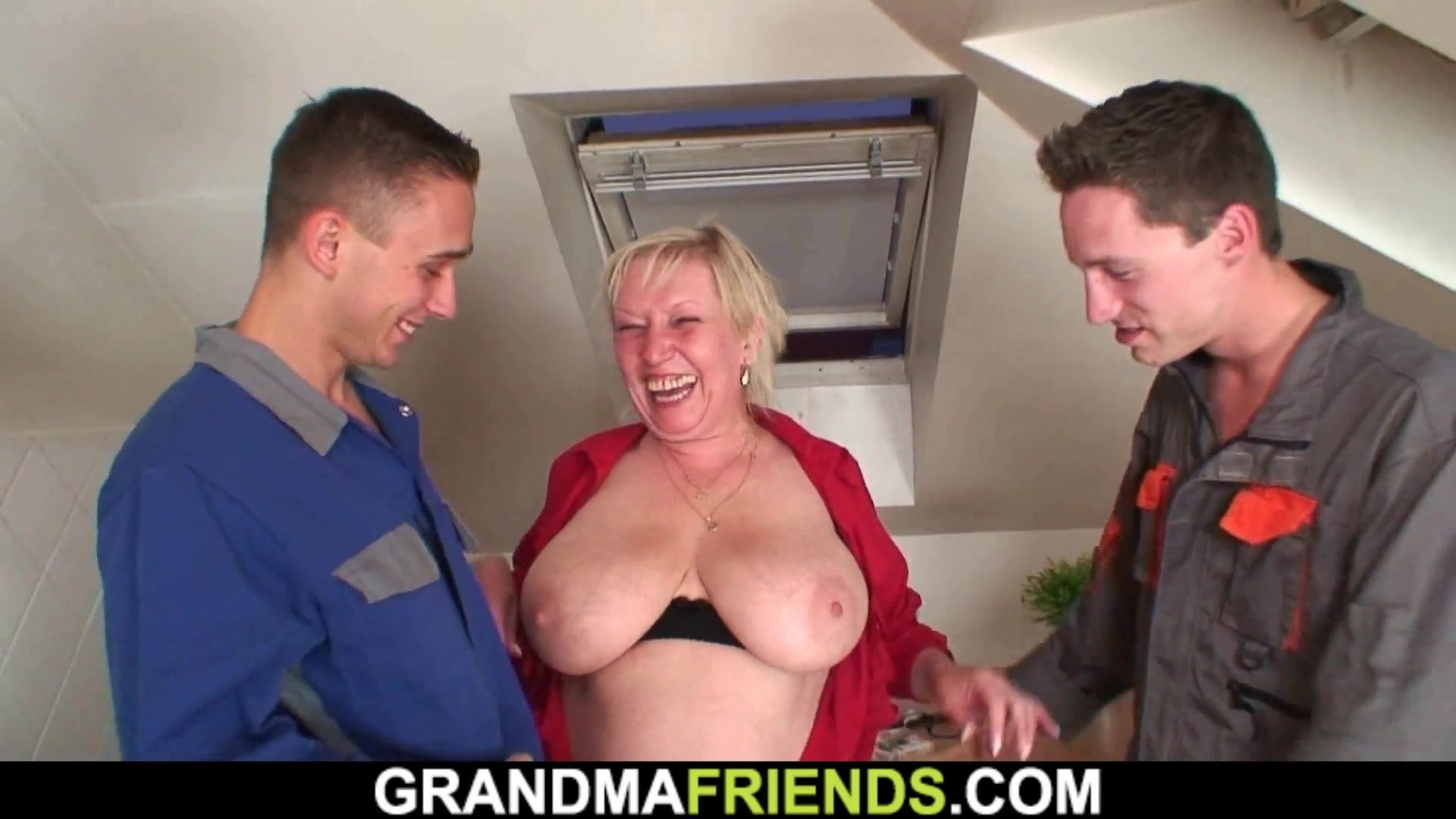 Gorgeous Big Tits Granny