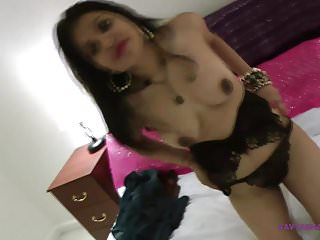 Gujarati Bhabhi Kavya Sharma Stripping Nude In Bed room For
