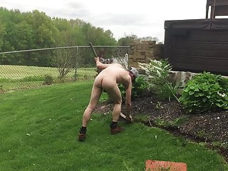 Kevin my car wash guy working naked landscaping Part 3