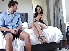 Bella Rolland's Foot Wank For Delivery Guy