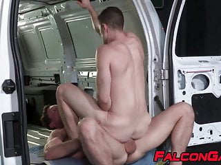 Muscle jock quin quire has pounding...