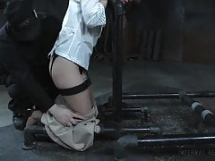 Milf in stockings tied and slapped