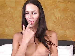 Naughty Teen Masturbating With Glass Toy