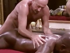 White Father Touches And Barebacks Ebony Muscle Guy