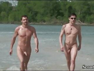 Cocks at nudist beach...