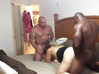 White Wife Demands Black Man Creampie Sex. BBC Lover and Milf