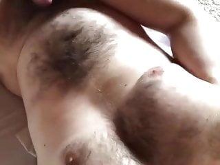 Bear daddy jerking off semen