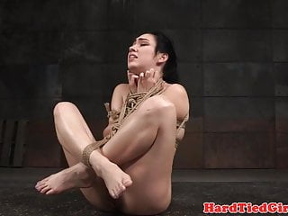 Dildo drilled slave punished with bondage