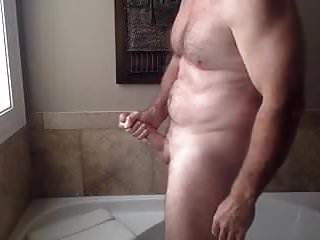 Morning masturbation after the shower