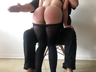 Butt gets spanked...