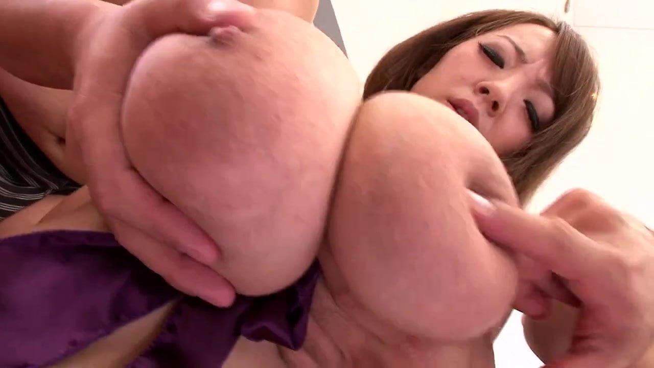 Asian big tits and two guys
