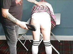 Caned for not doing her lines pt1
