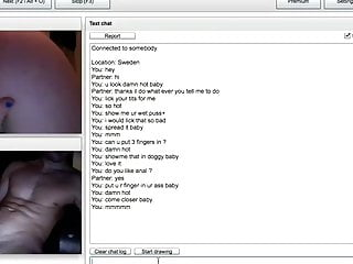 Swedish Chatroulette Babe Fingering Herself