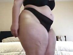 Bbw strip and tease