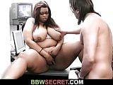 Boss cheats with busty ebony secretary