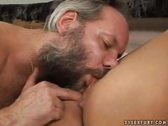 Kira Banks and grandpa