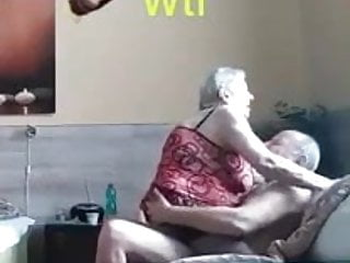 Gran and Granpa  having  enjoyable