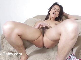 orgasms armchair on Pamela and her masturbates