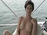Sweet girlfriends-lesbians on the yacht
