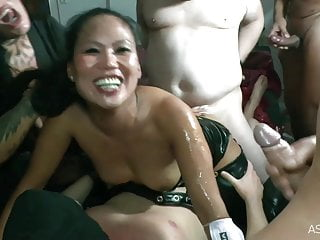 Dp creampie gangbang for asian nicci at anal...
