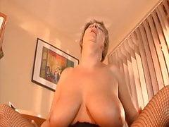 He loves grandmas big boobs!