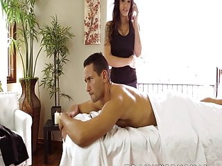 Stunning busty tranny gives a her ass to...