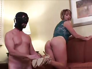 Chastised heel worshipping slave teased and kept locked...