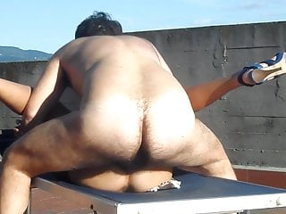 Anal on the terrace