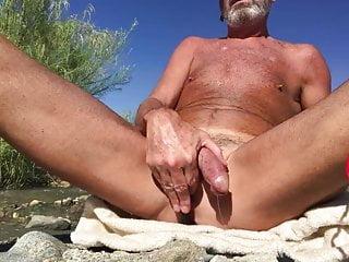Dad having fun with butt plug...