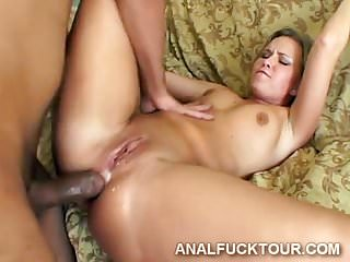 Heavy meatbones break a blonde babe's butt