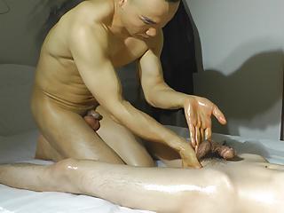Chinese muscle nude massage...
