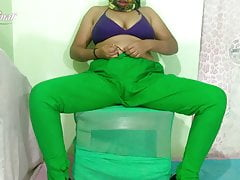Muslim wife in green leggings fuck hard by tenant