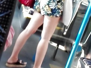 Candid girl in short 001
